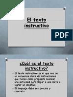 El Texto Instructivo La Receta