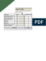 Final Grade Calculator Spring 2014