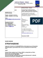 Strafanzeige Andreas Klamm Sozialbetrug 1