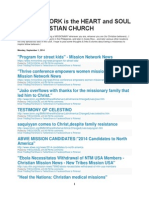 (thru 9/1/14) Mission Work is the Heart and Soul of the Christian Church