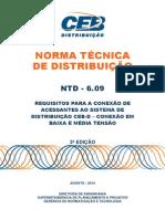 Ntd 6.09 Requisitos Para a Conexao de Acessantes Ao Sistema de Distribuicao Cebd 3a Ed