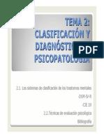Tema 2_ Clasificación y Diagnóstico en Psicopatología