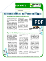 gateway holiday newsletter