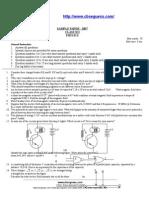 Physics Sample Paper - 2007