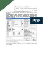 Cálculo de Emisiones a La Atmósfera Utilizando Factores de Emisión