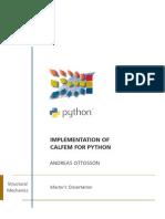 Calfem for Python