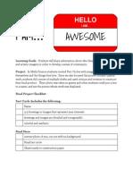 projectspecsheet 1