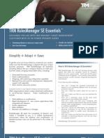 TRM RulesManager SE™ Essentials Brochure