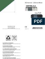 JBSYSTEM - Beglec - Control 5.2 Mixer - Manual