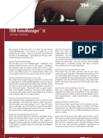TRM RulesManager SE™ Getting Started Brochure