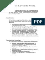 Características de La Sociedad Anónima