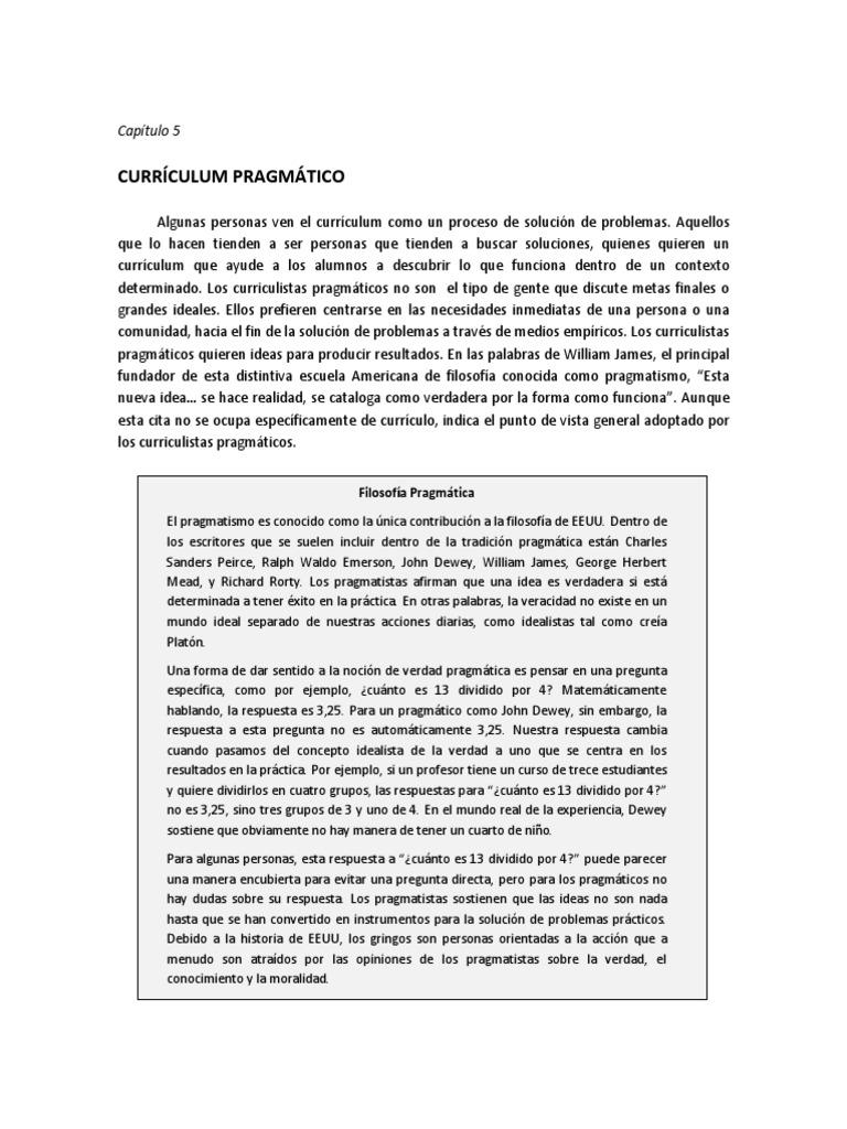 Currículum Pragmático - Traducción