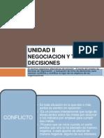 Unidad II de Fsc III Negociacion y Toma de Decisiones