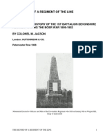 The Record of a Regiment of the LineBeing a Regimental History of the 1st Battalion DevonshireRegiment during the Boer War 1899-1902 by Jacson, M.