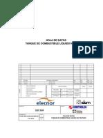 819001 IDO 0 EGA 255 HDD 001 B HD Tanque de Combustible Líquido No Tratado