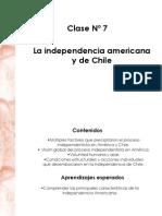 Clase 7 Independencia de America y Chile