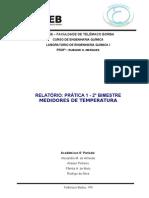 Relatório Prática 1 - Medidores de Temperatura