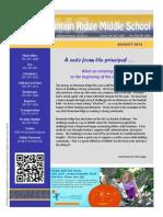 Mountain Ridge Newsletter August 2014