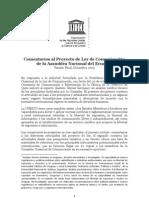 UNESCO Comentarios Ley de Comunicación Final