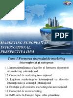 Marketing European Şi Internaţional