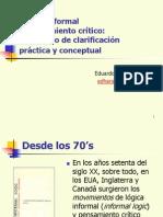 Lógica Informal y Pensamiento Crítico Un Intento de Clarificación Práctica y Conceptual
