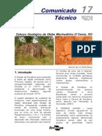 Esboço Geológico Da Gleba Machadinho Rondonia