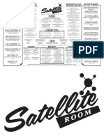 Satellite Room Dinner Menu