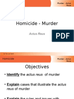 murder actus reus
