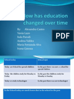 How Education Change Over Time