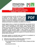 01-09-14 Agenda Legislativa PRI-PVEM Senado