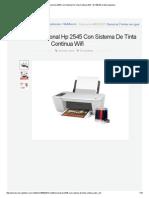 Multifuncional Hp 2545 Con Sistema de Tinta Continua