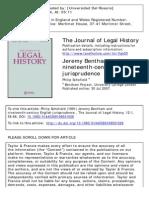 SCHOFIELD, Philip, « Jeremy Bentham and Nineteenth-Century English Jurisprudence », 1991