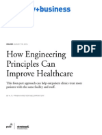 How Engineering Principles Can Improve Healthcare