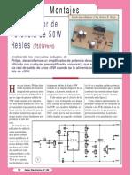 Amplificador de Potencia de 50W