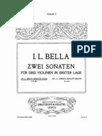 BELLA Sonata Op. 4 1st Pos 3vns ALL