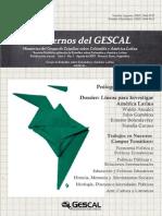 """Revista """"Cuadernos del GESCAL. Memorias del Grupo de Estudios sobre Colombia y América Latina"""" (No. 1,  Agosto de 2013)"""
