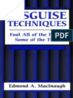 Disguise Techniques by a Edmond MacInaugh - Paladin Press