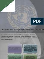 1.1 Estructura y Organización de La Comunidad Intenacionay y 1.2 El Tratado de Versalles