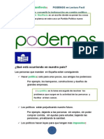 Manifiesto Podemos en Lf1