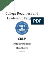 2014-2015 crlp parentstudent handbook