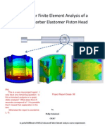 Non-Linear Finite Element Analysis of a Shock Absorber Elastomer Piston Head