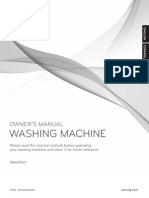 LG WM2240C Washer user manual - English Only