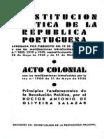 ConstitucionPortuguesa 1933 (Con Reformas 1936)