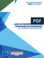 Beneficierios del programa de despensas - Gobierno municipal de Matamoros