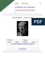 Catón, Marco Porcio - Dichos (Latín-español) (Doc)