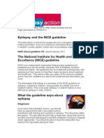 Epilepsy and the Nice Guideline