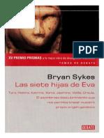 Bryan Sykes Las Siete Hijas de Eva