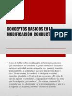Conceptos Basicos en La Modificación Conductual