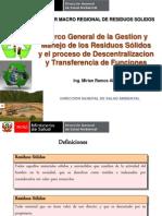 Marco General de Los Residuos Solidos y Descentralizacion