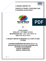 Retail Mapping and Area Expansion of WIPRO Consumer Care in Hooghly